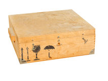 Wooden box for transport Royalty Free Stock Photo