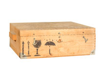 Wooden box for transport Royalty Free Stock Images