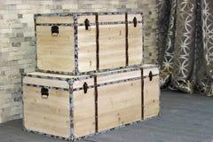 The wooden box Stock Photos