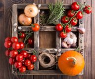 Vegetable background with soup ingredients Royalty Free Stock Photo