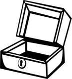 Wooden box vector illustration Stock Image