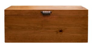 Wood Box. With vintage handle Royalty Free Stock Images