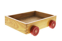 Wooden Box with Wheels Royalty Free Stock Photography