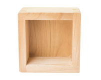 Wooden box on white Stock Image