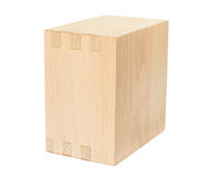 Wooden box on white Stock Photography