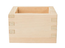 Wooden box on white Royalty Free Stock Images