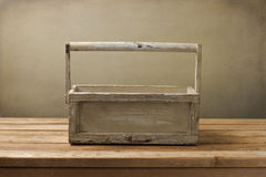 Wooden box on wooden table Stock Photo