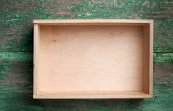 Wooden box for your packaging Royalty Free Stock Images