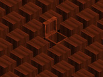 Wooden boxes Royalty Free Stock Images