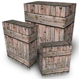 Wooden boxes Royalty Free Stock Image