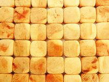 Wooden boxes. Background. Wooden squares, lit by bright sunshine. Background Royalty Free Stock Photos