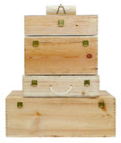 Wooden boxes. Stock Image