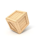 Wooden boxes in perspective Stock Image