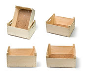 Wooden boxes Stock Image