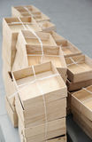 Wooden boxes Stock Photography