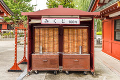 Wooden boxes to store the wishes. In Senso-ji Temple Royalty Free Stock Photos