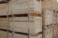 Wooden boxes Stock Photo