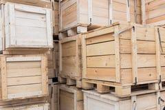Wooden boxes Stock Photos