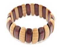 Wooden bracelet Stock Images