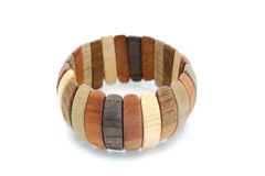 Wooden bracelet Royalty Free Stock Images