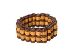 Wooden bracelet Royalty Free Stock Photo