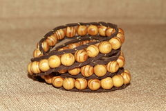 Wooden bracelet Royalty Free Stock Photography