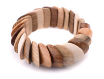 Wooden bracelet Stock Images