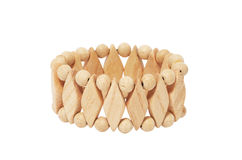 Wooden bracelet Stock Photos