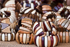 Wooden bracelets. Stock Images
