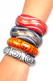 Wooden bracelets Royalty Free Stock Images