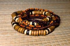 Wooden bracelets Royalty Free Stock Photo