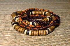 Wooden bracelets Stock Photo