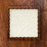 Wooden braid frame Stock Image