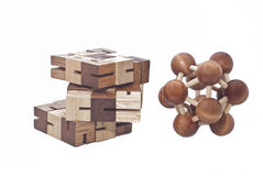 Wooden Brain Teaser Royalty Free Stock Photography