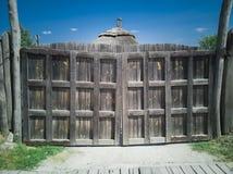 51-Wooden brama obrazy stock