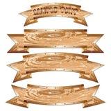 Wooden_brass_banner_set 库存照片