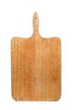Wooden bread board on white background Royalty Free Stock Photography