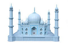 The wooden breadboard model Taj mahal Royalty Free Stock Photos