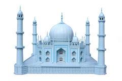 The wooden breadboard model Taj mahal Royalty Free Stock Photos