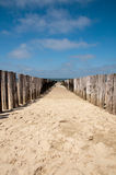 A wooden breakwater Stock Photos