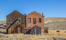 Wooden and brick building in Bodie Royalty Free Stock Images
