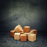 Wooden brick puzzle Royalty Free Stock Image