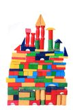 Wooden bricks castle Royalty Free Stock Photography