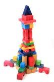 Wooden bricks castle Royalty Free Stock Image