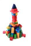 Wooden bricks castle Stock Photography