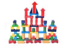 Wooden bricks castle Stock Image