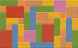 Wooden Bricks Wall Pattern Colored Toy Stock Image