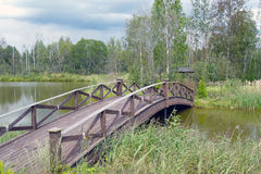 Wooden bridge 1 Stock Image