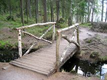 Wooden bridge Stock Images