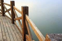 Wooden bridge. Parapet  Photo taken on: 2010 Stock Photography